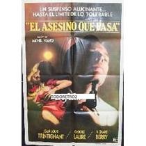 Afiche El Asesino Que Pasa Jean-louis Trintignant 1981