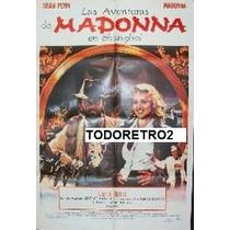 Afiche Las Aventuras De Madonna En Shanghai Año 1986