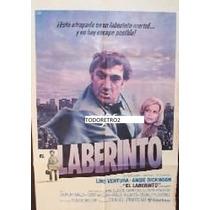 Afiche Laberinto Lino Ventura, Angie Dickinson 1979