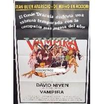 Afiche Vampira David Niven Teresa Graves Peter Bayliss 1974