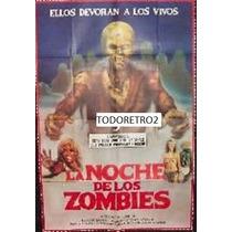 Afiche La Noche De Los Zombies - Margit Evelyn Newton - 1980