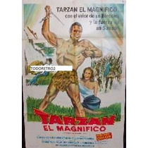 Afiche Tarzan El Magnifico Gordon Scott, Jock Mahoney 1960
