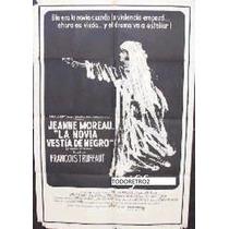 Afiche La Novia Vestida De Negro Jeanne Moreau, Michel 1968