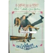 Afiche La Carrera De La Cebolla Pierre Richard 1975