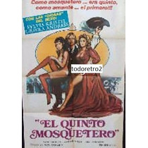 Afiche El Quinto Mosquetero - Sylvia Kristel, Ursula Andress