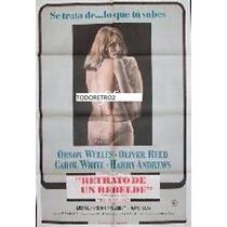 Afiche Retrato De Un Rebelde Orson Welles, Oliver Reed 1967