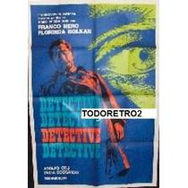Afiche Detective Franco Nero, Florinda Bolkan 1969