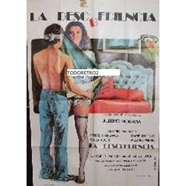 Afiche La Desobediencia Stefania Sandrelli, Teresa Ann 1981