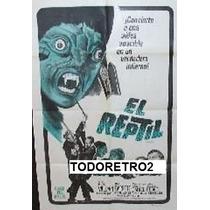 Afiche El Reptil Noel Willman, Jennifer Daniel 1966
