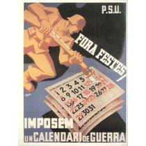 Guerra Civil Española-propaganda Politica-lamina-22 X 28(94)