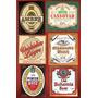 Lote 6 Etiquetas De Cervezas Mundiales
