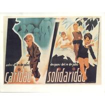 Guerra Civil Española-propaganda Politica-lamina-22 X 28(70)