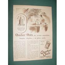 Publicidad Clipping Alimentos Quaker Oats Lata Cereales