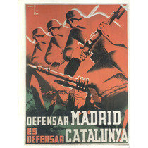 Guerra Civil Española-propaganda Política-lamina-22 X 28(48)