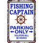 Carteles 60x40 Parking Only Fishing Capitán Pescador Pa-108