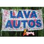 Banderas Para Lava Autos * 150 X 75 Cm Publicidad Negocio