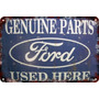 Poster Cartel Antiguo De Chapa60x40cm Ford Genuine Au-001