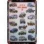 Poster Carteles Antiguos Chapa 60x40cm Off Road 4x4 Au-293