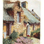 Postal Artistica. Vieja Casa De Bretona.pintado Con La Voca