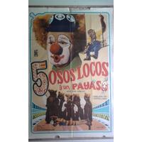 5 Osos Locos Y Un Payaso 0525 Afiche De 1.10 X 0.75