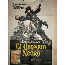 Poster Pelicula* El Corsario Negro *año 1976 Kabir Bedi