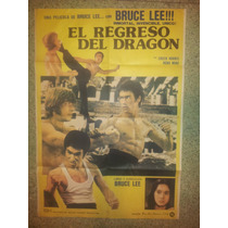 Afiche De Cine: El Regreso Del Dragón -1972- Bruce Lee