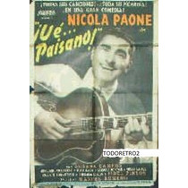 Afiche Ue Paisano! Nicola Paone Manuel Romero 1953