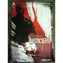 Poster Original Pelicula El Justiciero Denzel Washington