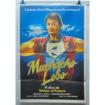 Michael Fox Muchacho Lobo - Afiche Cine Original 70s 80