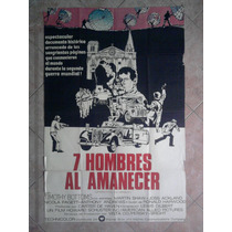7 Hombres Al Amanecer 1978 Afiche De 1.10 X 0.75