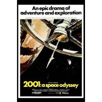 Cartel Antiguo Poster 60x40cm 2001 Odisea El Espacio Fi-087