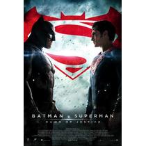 Afiche De Lona Cine Batman Vs Superman - 2 Metros X 1 Metro
