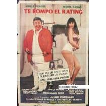 Afiche Te Rompo El Rating Jorge Porcel, Moría Casán 1981
