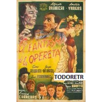 Afiche De Cine El Fantasma De La Opereta - A. Barbieri 1954