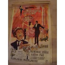 Afiche Orig D Cine 1,10x0,75 El Millonario Mas Feliz. Disney