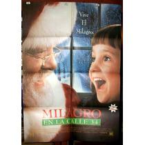 Milagro En La Calle 34 !!! Afiche Cine Orig 1994 N353