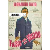 Afiche De Cine Fuiste Mia Un Verano - Leonardo Favio - 1969