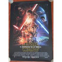 Poster Cine Star Wars Episodio Vii El Despertar De La Fuerza