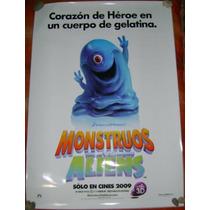 Poster Cine Monsters Vs Aliens
