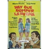 Afiche Hay Que Romper La Rutina - Olmedo Porcel - 1974