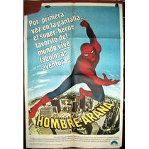 Hombre Araña Spider Man Afiche Cine Orig 1977 N501