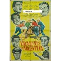 Afiche Vacaciones En Argentina Enzo Viena, Hugo Moser 1960