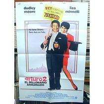 Dudley Moore Liza Minnelli Arthur Afiche Cine Orig 1988 N532