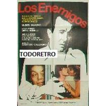 Afiche De Cine Los Enemigos Con Ulises Dumont Año 1983