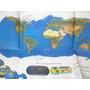 Poster Mural Planisferio Satelital Gran Atlas Clarin 2000 Fo