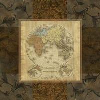 Michelle Katz - Mapa Antiguo - Terre Orbis Ii - 30 X 30 Cm