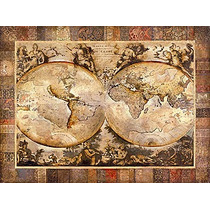Lamina De Un Mapa Antiguo, Old World - 80 X 60 Cm