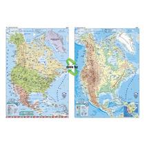 Mapa Mural América Del Norte - Físico/político 130 X 95