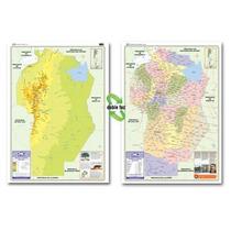 Mapa Mural Provincia De Córdoba - Físico/político