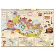 Mapa Mural Histórico - Imperio Romano Y Griego